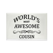 World's Most Awesome Cousin Rectangle Magnet