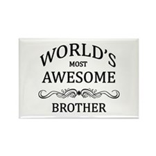 World's Most Awesome Brother Rectangle Magnet
