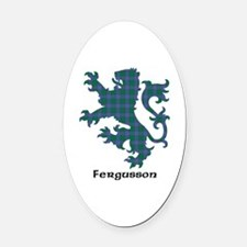 Lion - Fergusson Oval Car Magnet