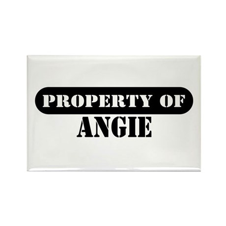 Property of Angie Rectangle Magnet