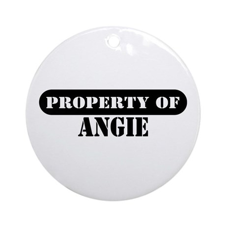 Property of Angie Ornament (Round)