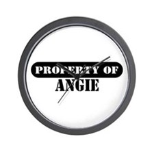 Property of Angie Wall Clock