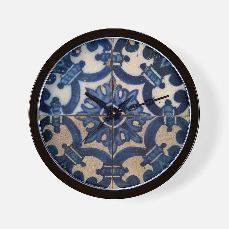 Portuguese tile de Braga Wall Clock