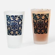 Portuguese tile de Braga Drinking Glass