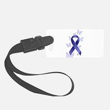 Blue Awareness Ribbon Luggage Tag