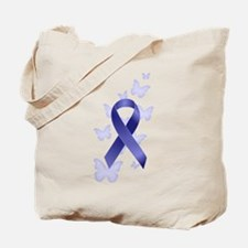 Blue Awareness Ribbon Tote Bag
