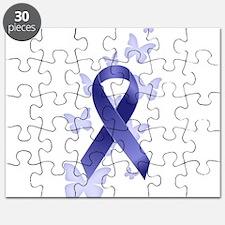 Blue Awareness Ribbon Puzzle