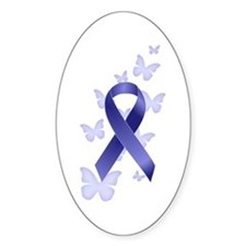 Blue Awareness Ribbon Decal