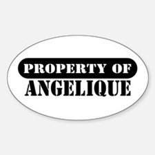 Property of Angelique Oval Decal