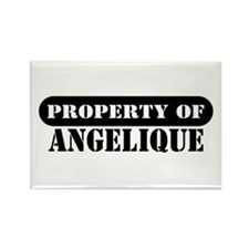 Property of Angelique Rectangle Magnet (10 pack)
