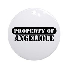 Property of Angelique Ornament (Round)
