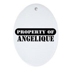 Property of Angelique Oval Ornament