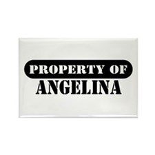 Property of Angelina Rectangle Magnet