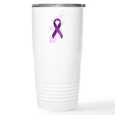 Purple Awareness Ribbon Travel Mug