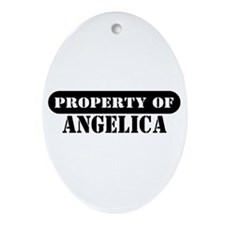 Property of Angelica Oval Ornament