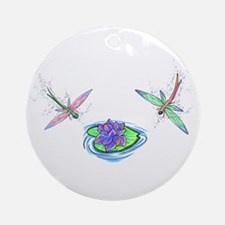 Dragonfly Dreams Ornament (Round)