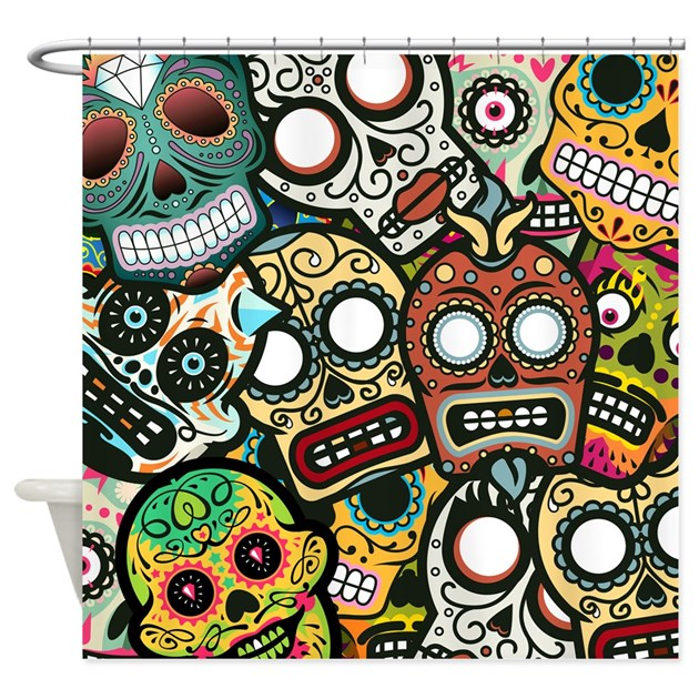 Day Of The Dead Bathroom Set: Day Of The Dead Shower Curtain By BestShowerCurtains