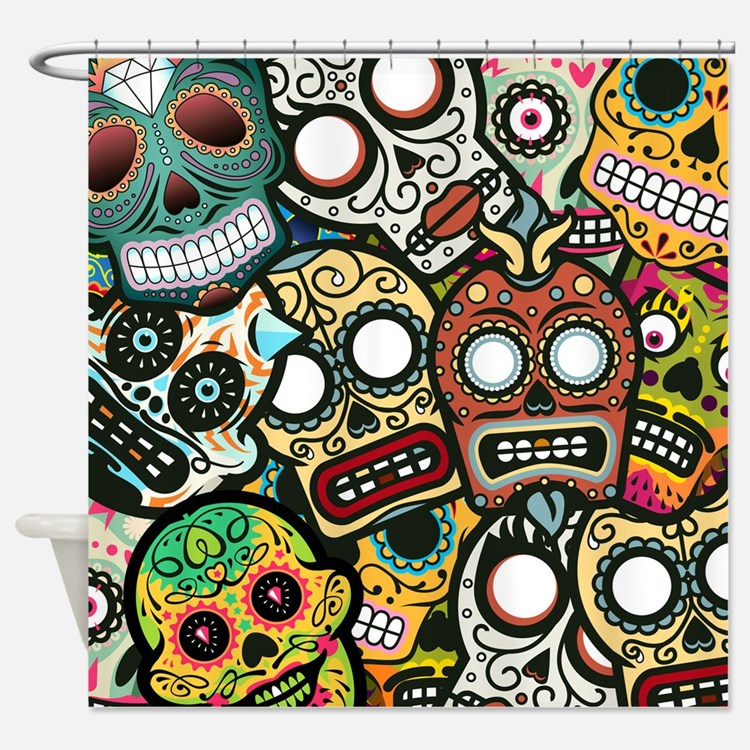 Day Of The Dead Bathroom Set: Day Of The Dead Bathroom Accessories & Decor