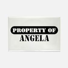 Property of Angela Rectangle Magnet