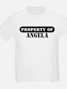 Property of Angela Kids T-Shirt