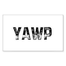 YAWP Rectangle Decal