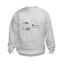 Watercolor Magpie Bird Family Animal Jumpers