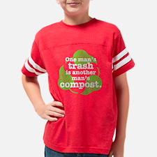 2-One_Mans_Trash_white Youth Football Shirt