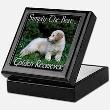 Golden Retrieve Puppy Gifts Keepsake Box