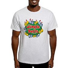 Christmas Cartoon Jingle Bells Text T-Shirt