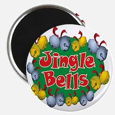 Christmas Cartoon Jingle Bells Text Design Magnet