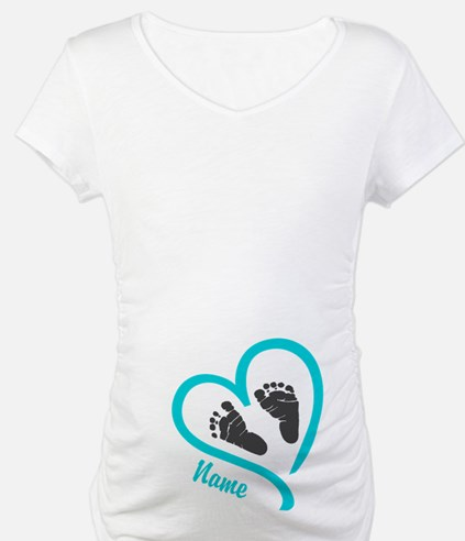 Baby Heart Blue Personalized Shirt