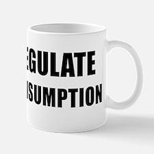 REGULATE CONSUMPTION - black Mug