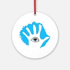 Blue Hamsa Ornament (Round)