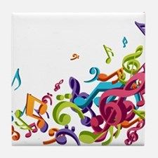 Music - Musician - Band - Music Notes Tile Coaster
