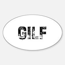 GILF Oval Decal