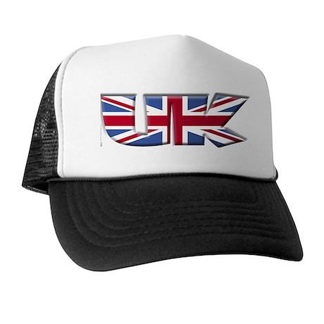 Word Art Flag of UK Trucker Hat