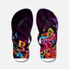Music - Musician - Band - Music Notes Flip Flops