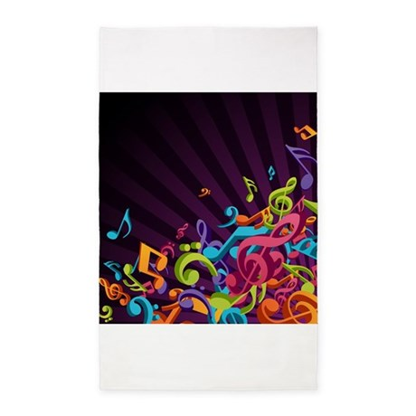 Music - Musician - Band - Music Notes 3'x5' Area R