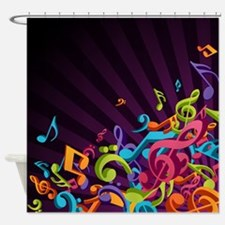 Music - Musician - Band - Music Notes Shower Curta