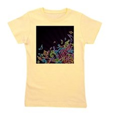 Music - Musician - Band - Music Notes Girl's Tee