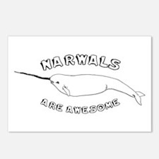Narwhals Are Awesome Postcards (Package of 8)