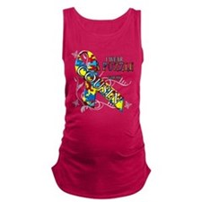 I Wear A Puzzle for my Cousin.png Maternity Tank T