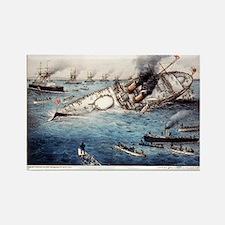 Sinking of the British battle ship Victoria off Tr