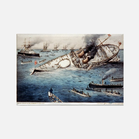 Sinking of the British battle ship Victoria off Tr