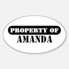 Property of Amanda Oval Decal