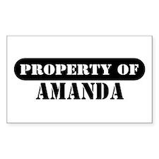 Property of Amanda Rectangle Decal