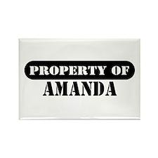 Property of Amanda Rectangle Magnet
