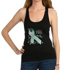 I Wear Teal for my Nanny.png Racerback Tank Top