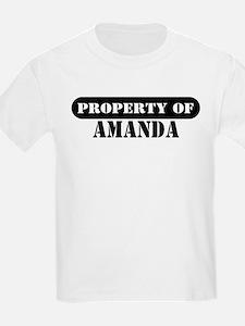 Property of Amanda Kids T-Shirt