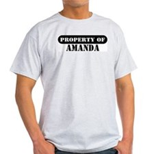 Property of Amanda Ash Grey T-Shirt